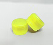 Capac plastic 28 mm filet galben