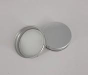 Capac aluminiu prefiletat D40*10 Argintiu