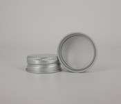 Capac alu. pref. D 28*12 mm argintiu